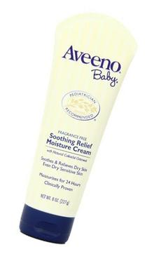 Aveeno Baby Soothing Relief Moisture Cream, Fragrance Free,