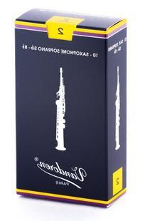 Vandoren SR202 Soprano Sax Traditional Reeds Strength 2; Box