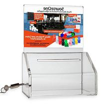 Source One 2 Pack, Small Clear Donation Charity Ballot Box