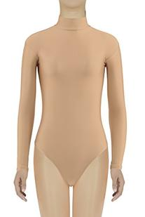 JustinCostume Women's Spandex Long Sleeve Thong Leotard