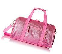Bixbee Girls' Sparklicious Glitter Duffel Bag, Pink, Medium