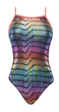 The Finals Women's Sparkle Blast Foil Wing Back Swimsuit, 36
