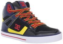 DC Men's Spartan Hi WC Fashion Sneaker,Red/Blue,5 M US