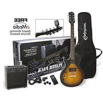 Epiphone Les Paul Electric Guitar Player Package, Vintage