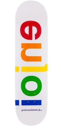Enjoi Spectrum Skateboard Deck - White - 8.1