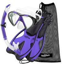Phantom Aquatics Speed Sport Mask Fin Snorkel Set, Twilight