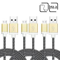 iSeeker Micro USB Cable High Speed 6.6ft/2m Nylon Braided