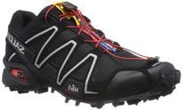 Salomon Men's Speedcross 3 Trail Running Shoe Black-Black-