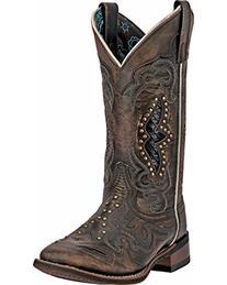 Laredo Women's Spellbound Cowgirl Boot Square Toe Black 11 M