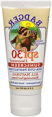 Badger SPF 30 Plus Sunscreen Tube Unscented -- 2.9 oz
