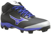 Mizuno Men's 9-Spike Franchise 7 Mid Baseball Cleat,Black/