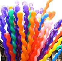 Aiernuo 100 pcs Spiral Balloons Thick Latex 2.6g/pcs