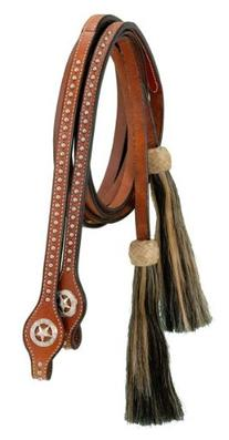 Royal King Split Reins with Silver Dots Star Conchos and