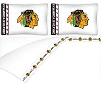 NHL Chicago Blackhawks 4pc Queen Bed Sheet Set