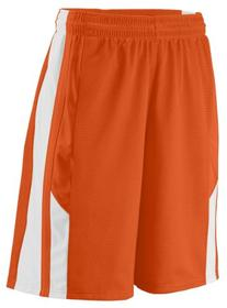 Augusta 9711A Youth Thunder Short, Orange, White - Large