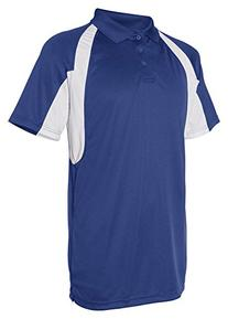 Badger Sportswear B-Dry Short-Sleeve Hook Polo Shirt, Royal/
