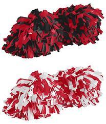 Augusta Sportswear Big Girl's Spirit Poms Set_Black/RED &