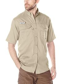 Columbia Blood and Guts III Short Sleeve Woven Shirt, Fossil