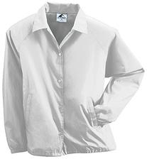 Augusta Sportswear MEN'S NYLON COACH'S JACKET/LINED L White