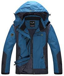 Wantdo Men's Sportswear Spring Front Zip Hooded Outdoor