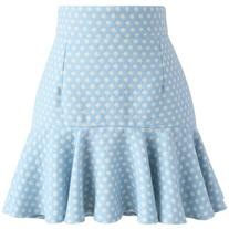 Chicwish Sprightly Polka Dots Wool-blend Bud Skirt