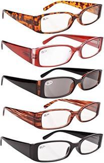 Spring Hinge Plastic Reading Glasses +2.00 , Includes