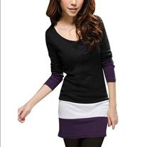 Women's Pullover Stretchy Slim Fit Splice Spring Top