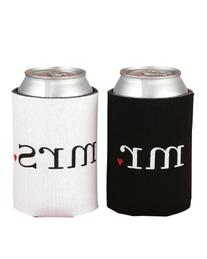 Spring Rose Wedding Accessories Mr. and Mrs. Can Coolers