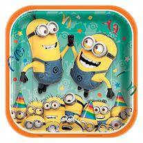 Square Despicable Me Minions Dinner Plates, 8ct