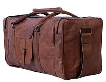 Komal's Passion Leather 24 Inch Square Duffel Travel Gym