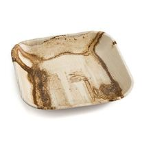 "Leafware Square Plate , 7"", Natural"