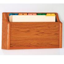 Wooden Mallet Square Bottom File Holder, Legal Size, Medium