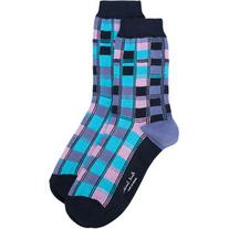 Paul Smith - squared effect socks - women - Cotton/Polyamide
