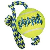 Kong Medium Squeaker Ball W/Rope Dog Toy