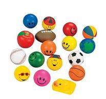 Squeeze Ball Assortment 12 Pc ~ Stress Relax Toy Balls