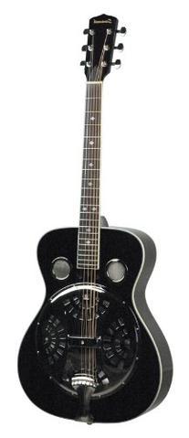 Savannah SR-200-BK Chicago Blues Resonator Guitar, Black