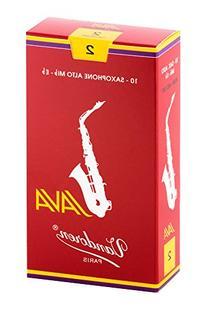 Vandoren SR262R Alto Sax JAVA Red Reeds Strength 2; Box of