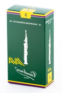 Vandoren SR303 Soprano Sax JAVA Reeds Strength 3; Box of 10