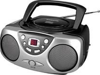 Sylvania SRCD243M-Black Portable CD Radio