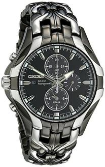 Seiko Men's SSC139 Excelsior Gunmetal and Silver-Tone