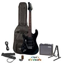 Sawtooth ST-ES-BKB-KIT-3 Black Electric Guitar with Black