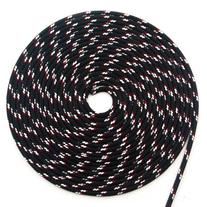 "50' of 1/4""  Sta-Set Solid Black by New England Ropes"