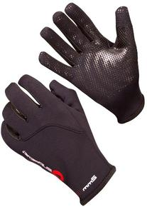SUPreme 2mm Stacked 5 Finger Gloves, Black, Medium - Standup