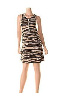 Kensie Women's Stacked Lines Dress, Heather Raffia Combo, X-