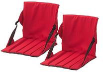 Coleman Stadium Seat,One Size,2 Pack Red