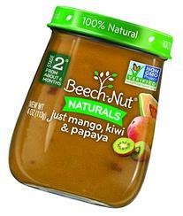 Beech-Nut Stage 2 Baby Food, Mango/Kiwi/Papaya, 4 Ounce
