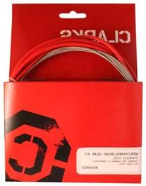 Clarks Stainless Steel Sport Gear Cable Kit - Red