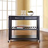 Crosley Furniture Portable Kitchen Cart with Stainless Steel