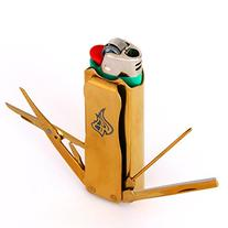 LighterBro Stainless Steel Lighter Sleeve, Titanium Gold
