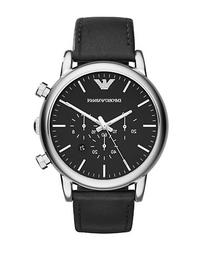 Emporio Armani Mens Stainless Steel Matte Chronograph Watch